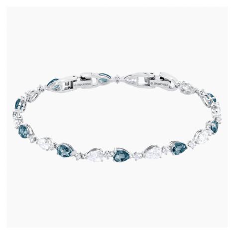 Vintage Bracelet, Blue, Rhodium plated Swarovski
