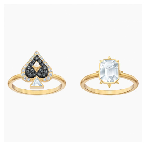 Tarot Magic Ring Set, Multi-coloured, Gold-tone plated Swarovski