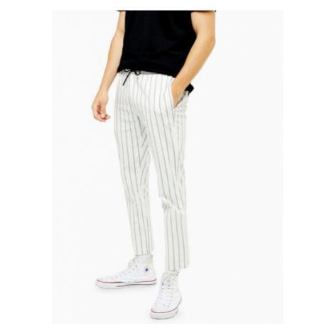 Mens Multi White And Black Stripe Trousers, Multi Topman