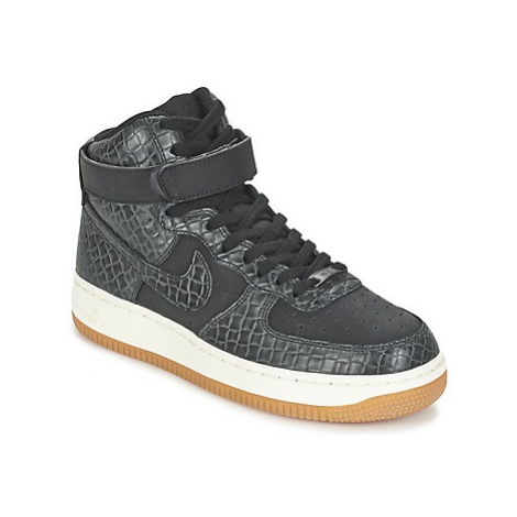 Nike AIR FORCE 1 HI PREMIUM W women's Shoes (High-top Trainers) in Black