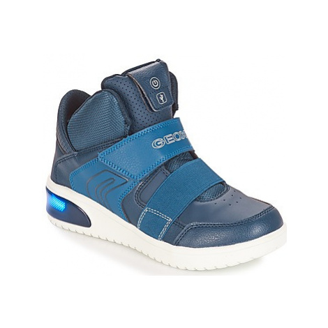 Geox J XLED BOY boys's Children's Shoes (High-top Trainers) in Blue