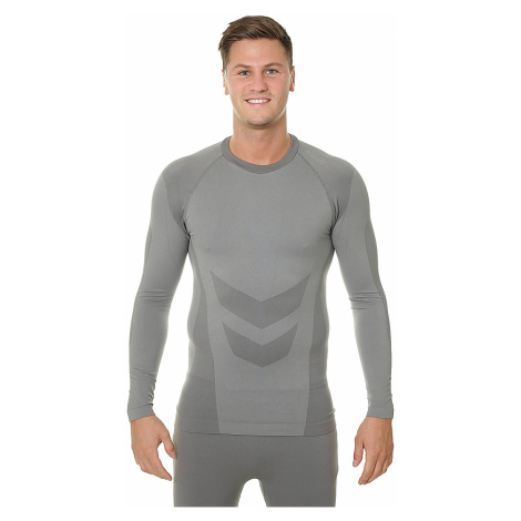 T-Shirt Hi-Tec Zareen Top LS - Quiet Shade/Alloy - men´s