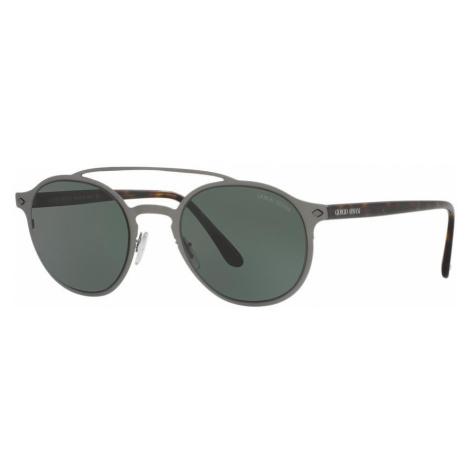 Giorgio Armani Man AR6041 - Frame color: Gunmetal, Lens color: Green, Size 49-22/150