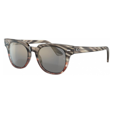Ray Ban Unisex RB2168 METEOR STRIPED HAVANA - Frame color: Striped Grey Gradient Brown, Lens col