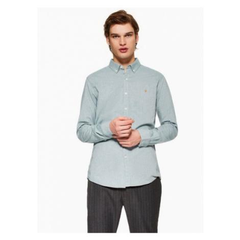 Mens Farah Navy 'Steen' Slim Shirt*, Navy