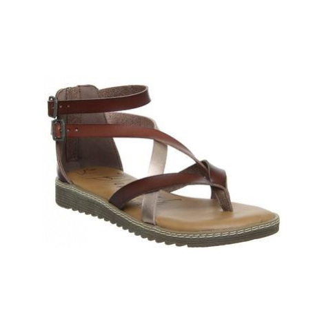 Blowfish Malibu Ohio Sandal BROWN ROSE GOLD CLAY