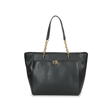 Lauren Ralph Lauren ELMSWOOD LANGDON TOTE MEDIUM women's Shopper bag in Black