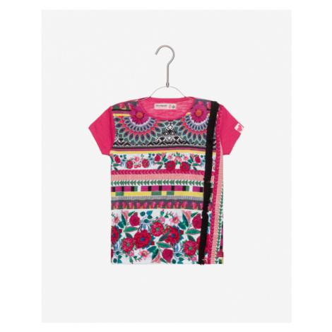 Desigual Dakota Kids T-shirt Pink Colorful