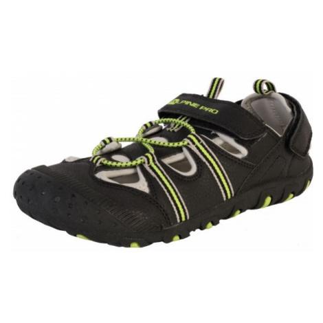 ALPINE PRO BELLEVO black - Children's summer shoes