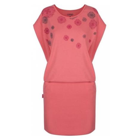 Loap ADILA pink - Women's dress