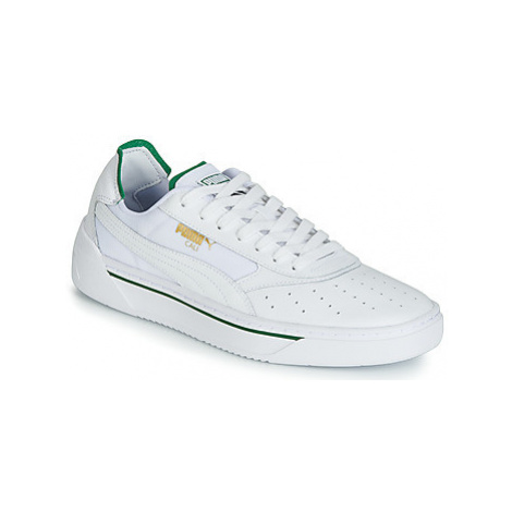 Puma CALI.WH-AMAZON GREEN-WH men's Shoes (Trainers) in White