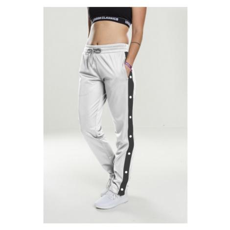 Urban Classics Ladies Button Up Track Pants wht/blk/wht