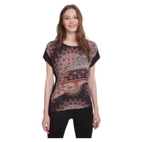 Desigual Bryoni T-shirt Black Brown