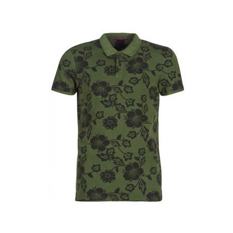 Scotch Soda AMS BLAUW POLO SHIRT WITH ALLOVER PRINT men's Polo shirt in Green Scotch & Soda