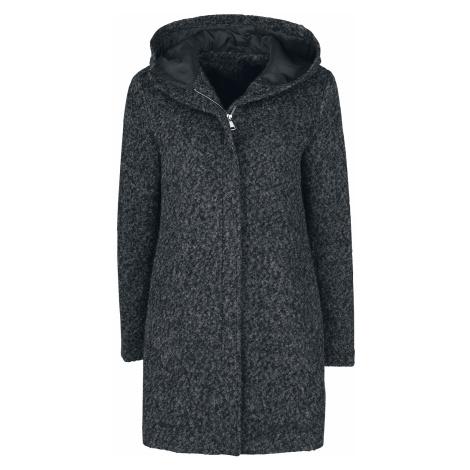 Forplay - Melange Hooded Coat - Girls coat - mottled black