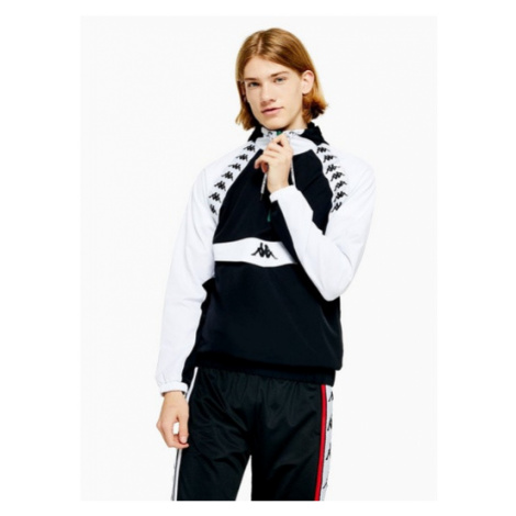 Mens Kappa Black 'Bakit' Track Jacket, Black