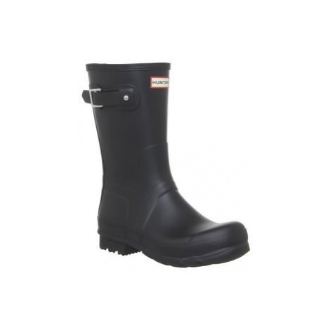 Hunter Mens Original Short Welly BLACK