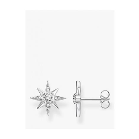 THOMAS SABO Magic Stars Cubic Zirconia Star Stud Earrings, Silver