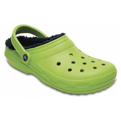 shoes Crocs Classic Lined Clog - Volt Green/Navy