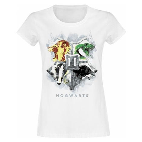 Harry Potter Hogwarts Painted Crest T-Shirt white