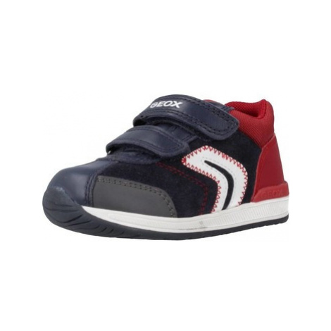 Geox B RISHON BOY boys's Children's Shoes (Trainers) in Blue