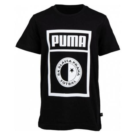 Puma SLAVIA PRAGUE GRAPHIC TEE JR dark gray - Children's T-shirt