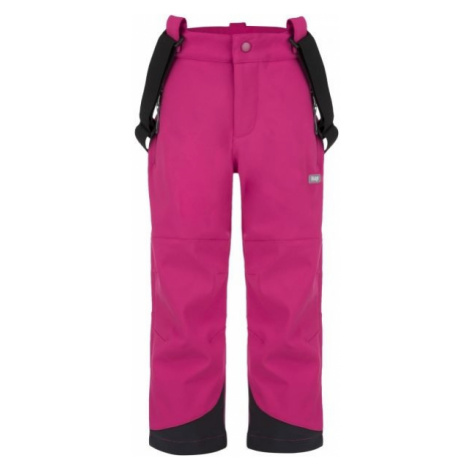 Loap LEWRY pink - Kids' softshell trousers