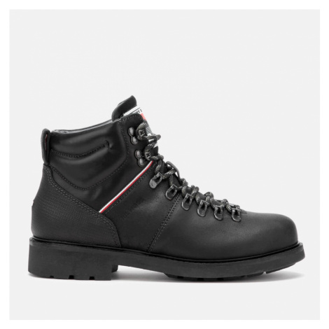 Tommy Hilfiger Men's Suede Material Mix Hiking Style Boots - Black - UK