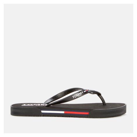 Tommy Jeans Women's Essential Beach Flip Flops - Black - UK Tommy Hilfiger