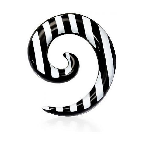 316L QUV184BA Piercing - Black/White Spiral