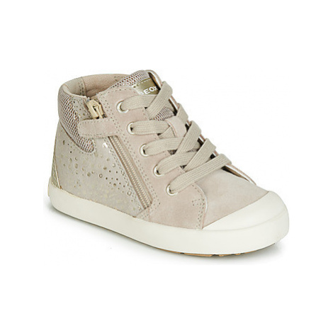 Geox B KILWI GIRL girls's Children's Shoes (High-top Trainers) in Beige