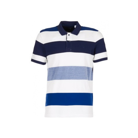 Gant OXFORD MULTI STRIPE RUGGER men's Polo shirt in White