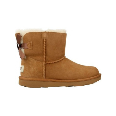 UGG MINI BAILEY BOW II girls's Children's Snow boots in Brown