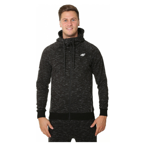 sweatshirt 4F X4Z18-BLM200D/Zip - Black Melange - men´s