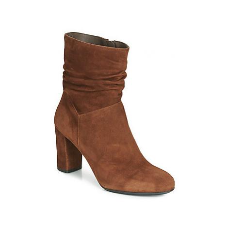 Perlato 11265-CAM-COGNAC women's Low Ankle Boots in Brown
