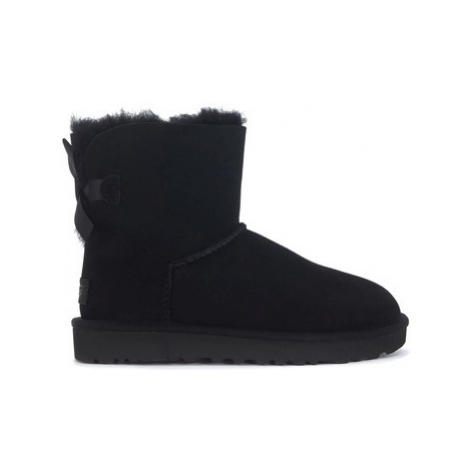 UGG Ugg Bailey Mini anke boots in black suede with bow women's Snow boots in Black