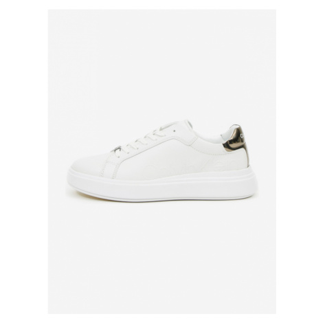 Calvin Klein Low Top Lace Up Sneakers White