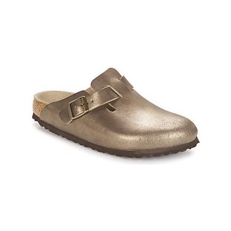 Birkenstock BOSTON women's Clogs (Shoes) in Gold