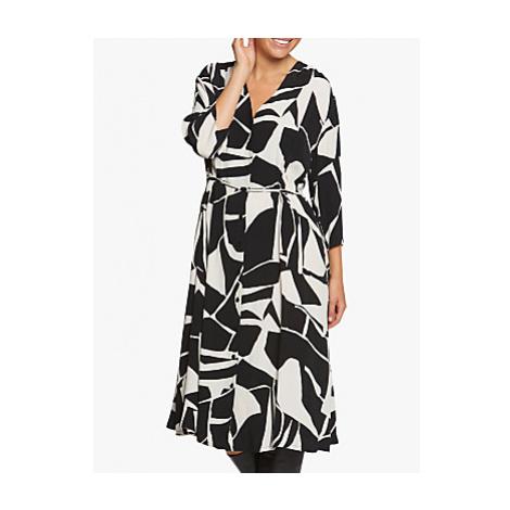 Masai Copenhagen Nini Monochrome Print Midi Dress, Black/White