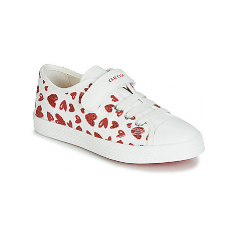 Geox JR CIAK GIRL girls's Children's Shoes (Trainers) in White