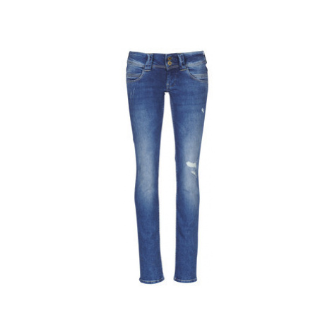 Pepe jeans VENUS TRAVAILLE USED women's Jeans in Blue