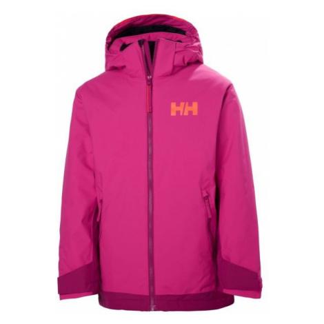 Helly Hansen JR HILLSIDE JACKET pink - Kids' skiing jacket