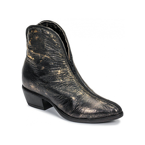 Papucei SCULPTUS BLACK GOLD women's Low Ankle Boots in Gold