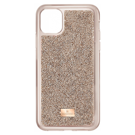 Glam Rock Smartphone Case with Bumper, iPhone® 11 Pro Max, Rose gold tone Swarovski