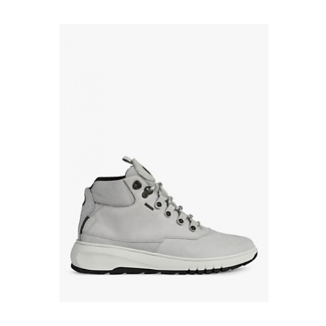 Geox Women's Aerantis Leather Ankle Boots, Light Grey
