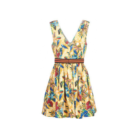 Benetton ROBY women's Dress in Yellow United Colors of Benetton