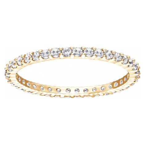 Vittore Ring, White, Gold-tone plated Swarovski