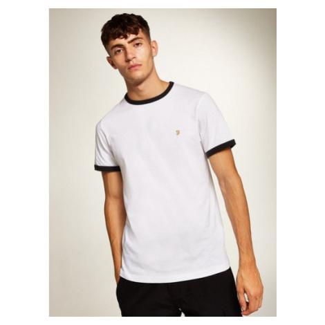 Mens Farah White 'Groves' Ringer T-Shirt*, White