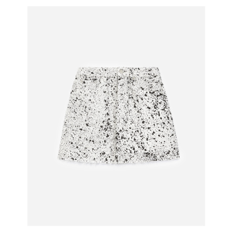 The Kooples - Short denim skirt with paint effect - WOMEN