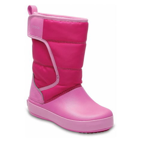 shoes Crocs Lodge Point Snow Boot - Candy Pink/Party Pink